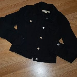 Forever 21 black jean distressed jacket